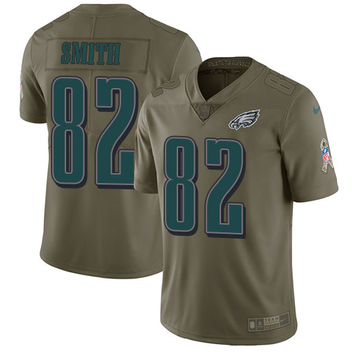 Nike Eagles 82 Torrey Smith Olive Salute To Service Limited Jersey