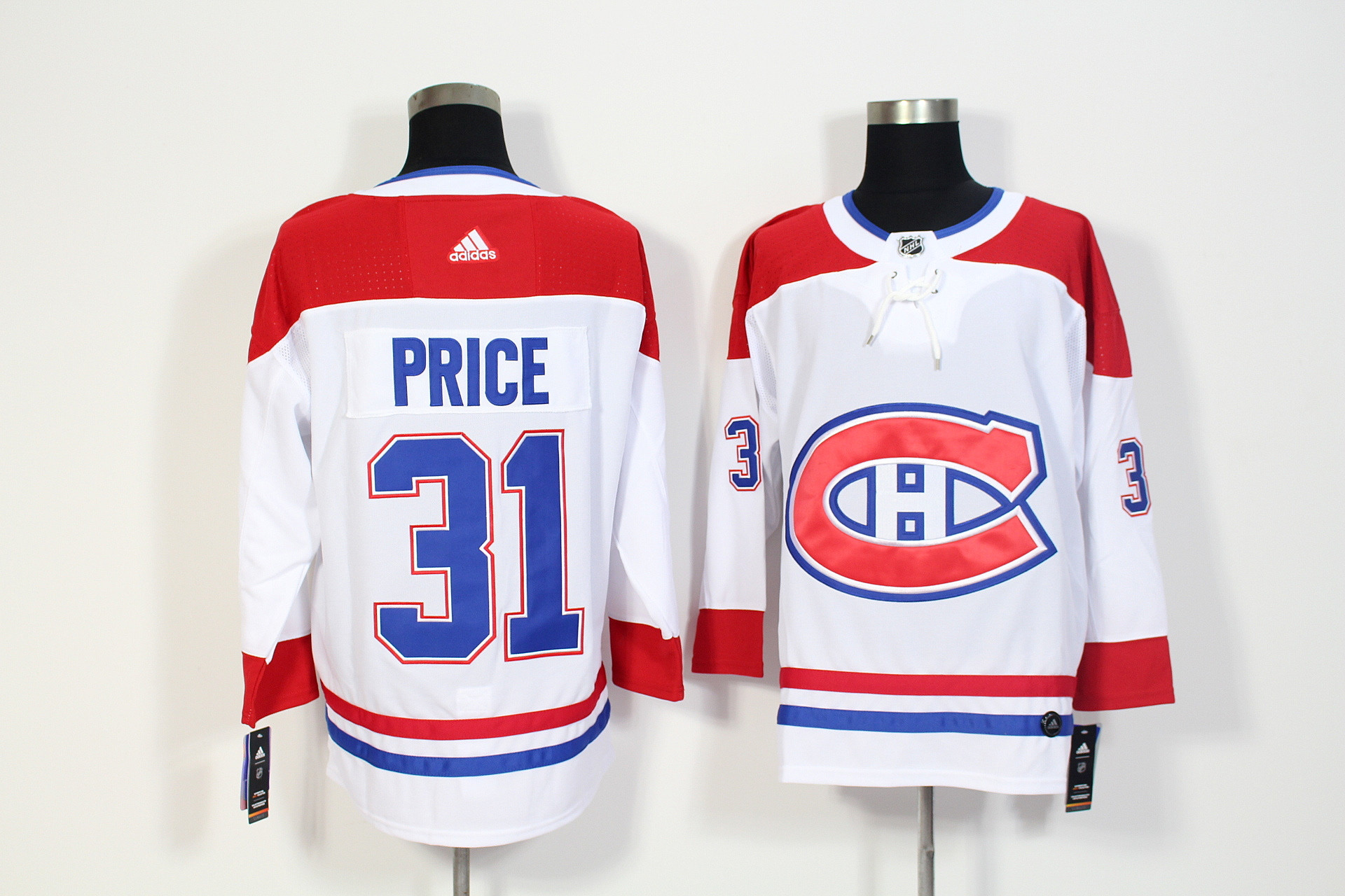 Canadiens 31 Carey Price White Adidas Jersey