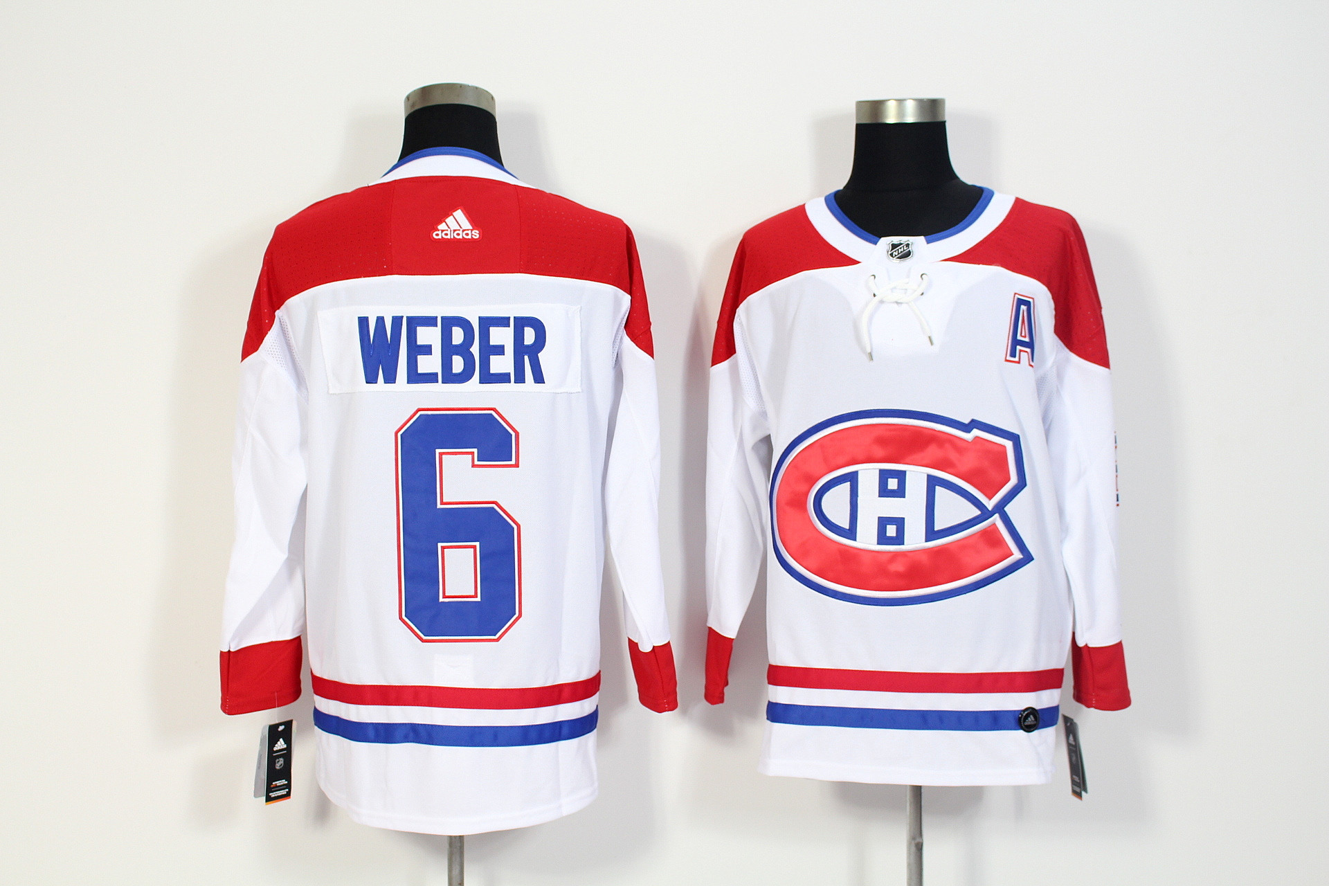 Canadiens 6 Shea Weber White Adidas Jersey