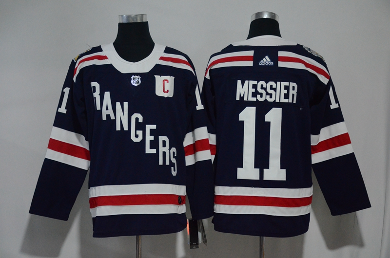 Rangers 11 Mark Messier Navy Adidas Jersey
