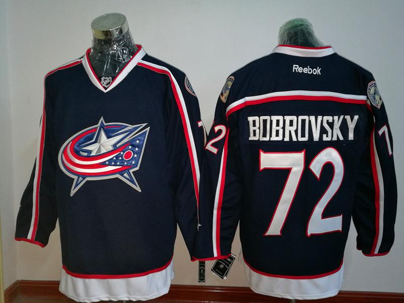 Blue Jackets 72 Sergei Bobrovsky Navy Reebok Premier Jersey