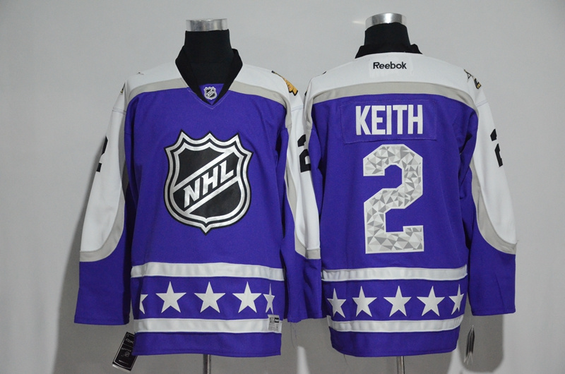 Blackhawks 2 Duncan Keith Purple Central Division 2017 NHL All-Star Game Premier Jersey