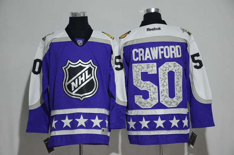 Blackhawks 50 Corey Crawford Purple Central Division 2017 NHL All-Star Game Premier Jersey