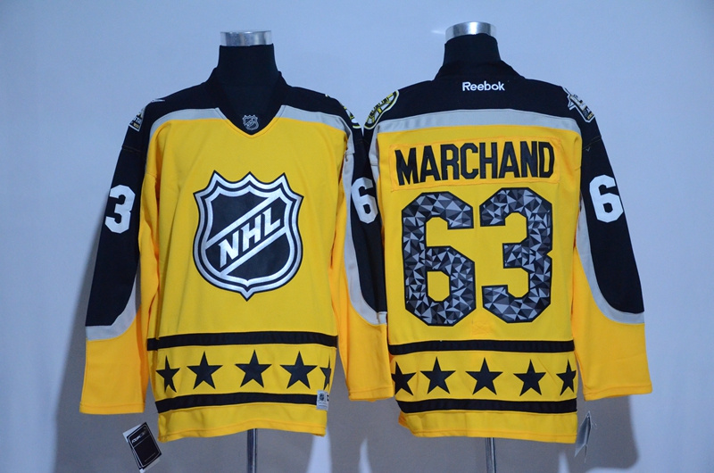 Bruins 63 Brad Marchand Yellow Atlantic Division 2017 NHL All-Star Game Premier Jersey