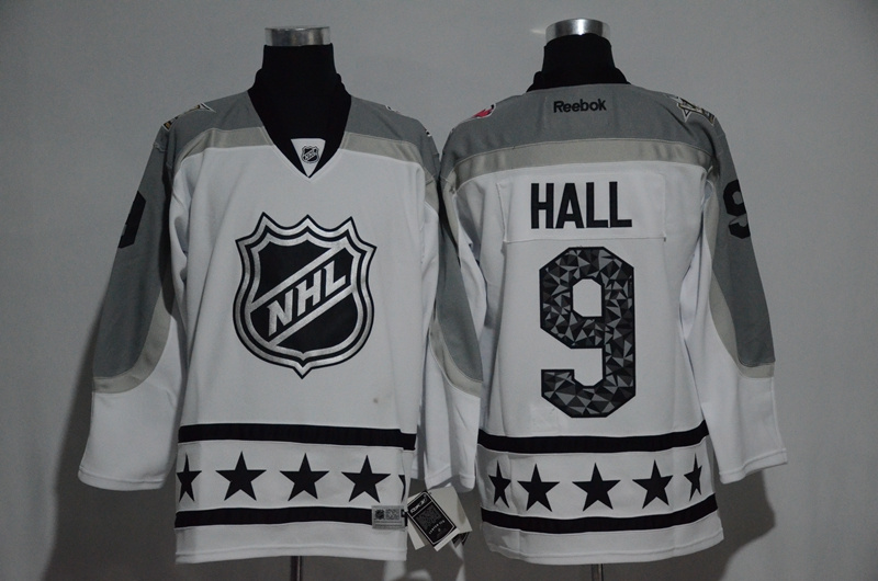 Devils 9 Taylor Hall White Metropolitan Division 2017 NHL All-Star Game Premier Jersey