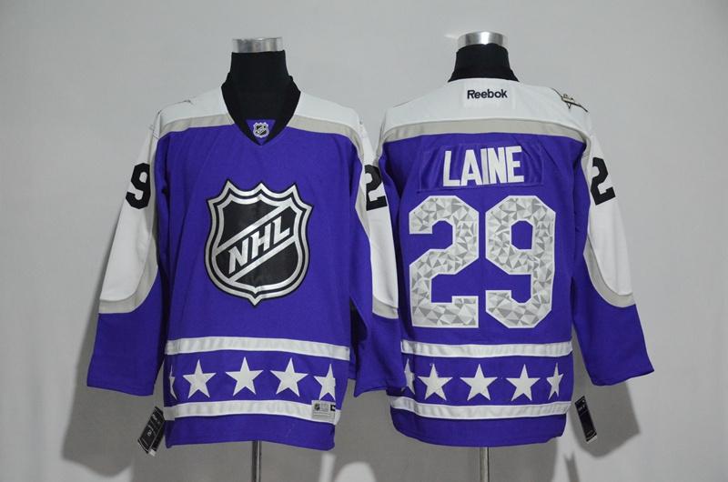 Jets 29 Patrik Laine Purple Central Division 2017 NHL All-Star Game Premier Jersey