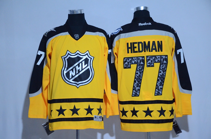 Lightning 77 Victor Hedman Yellow Atlantic Division 2017 NHL All-Star Game Premier Jersey