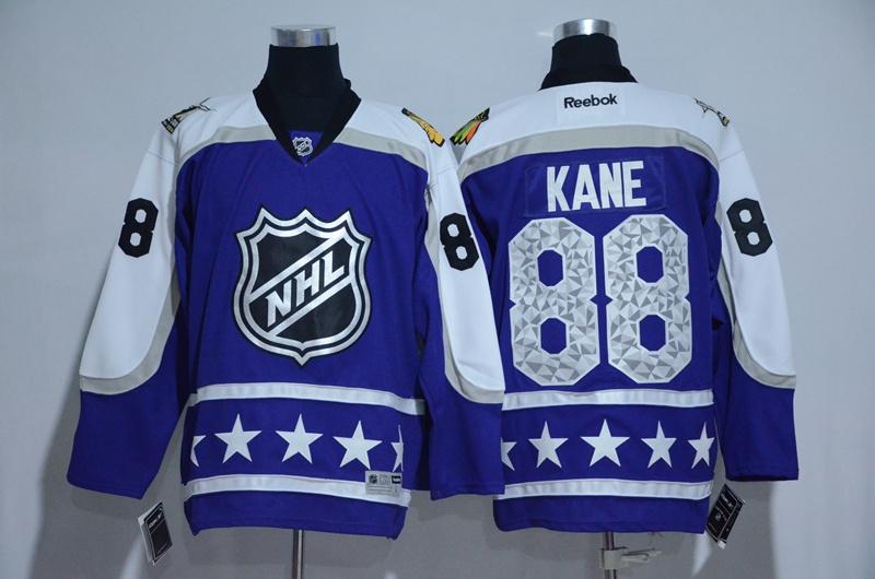 Blackhawks 88 Patrick Kane Purple Central Division 2017 NHL All-Star Game Premier Jersey