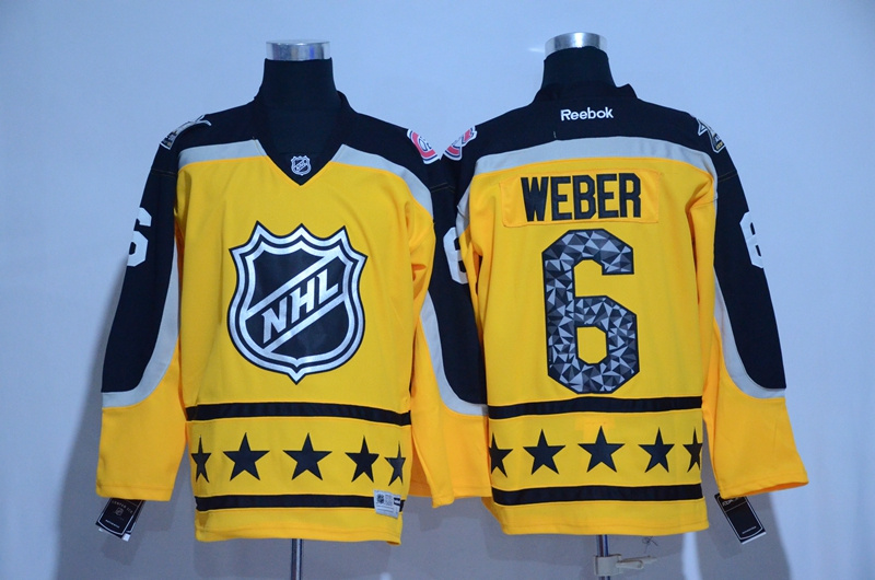 Canadiens 6 Shea Weber Yellow Atlantic Division 2017 NHL All-Star Game Premier Jersey