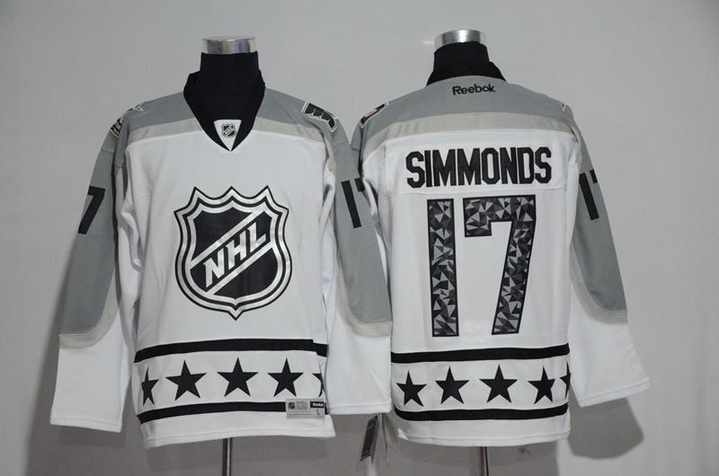 Flyers 17 Wayne Simmonds White Metropolitan Division 2017 NHL All-Star Game Premier Jersey