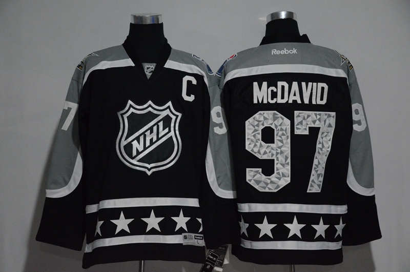 Oilers 97 Connor McDavid Black Pacific Division 2017 NHL All-Star Game Premier Jersey