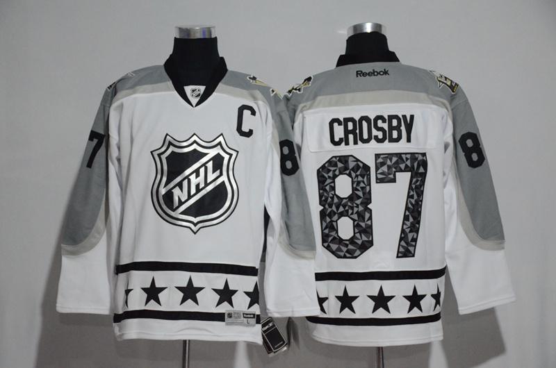 Penguins 87 Sydney Crosby White Metropolitan Division 2017 NHL All-Star Game Premier Jersey