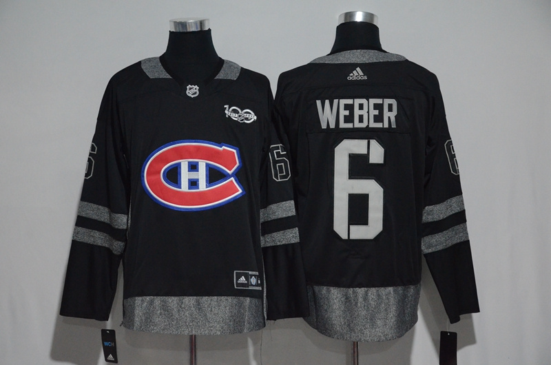 Canadiens 6 Shea Weber Black 1917-2017 100th Anniversary Adidas Jersey