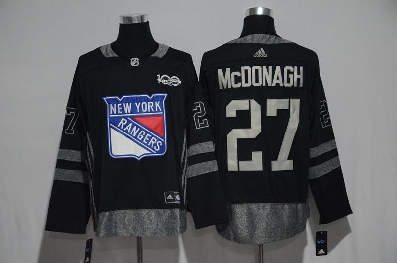 Rangers 27 Ryan McDonagh Black 1917-2017 100th Anniversary Adidas Jersey