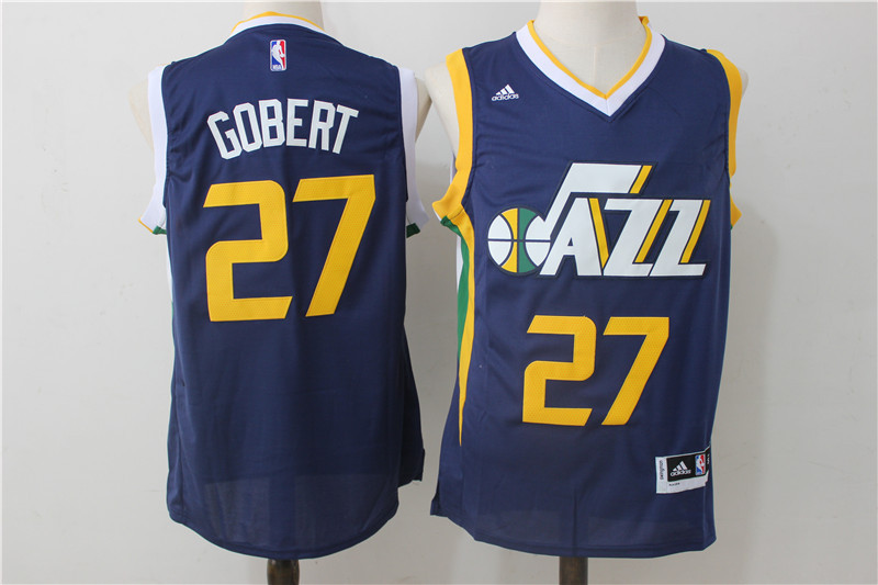 Jazz 27 Rudy Gobert Navy Swingman Jersey