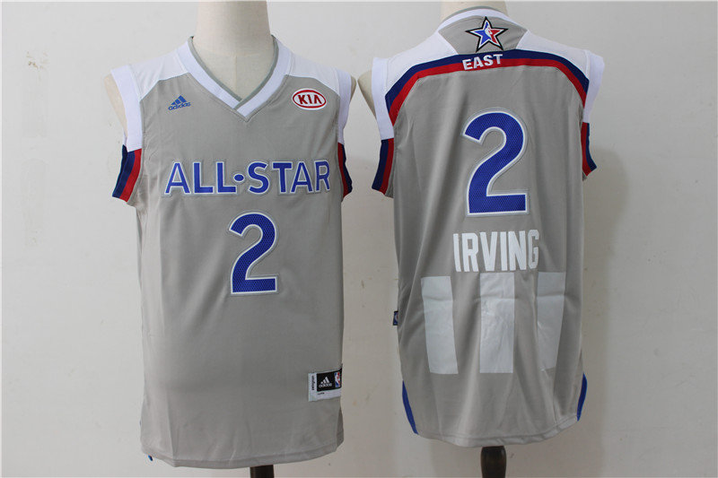 Cavaliers 2 Kyrie Irving Gray 2017 NBA All-Star Game Swingman Jersey