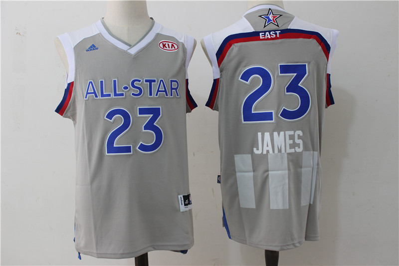Cavaliers 23 LeBron James Gray 2017 NBA All-Star Game Swingman Jersey