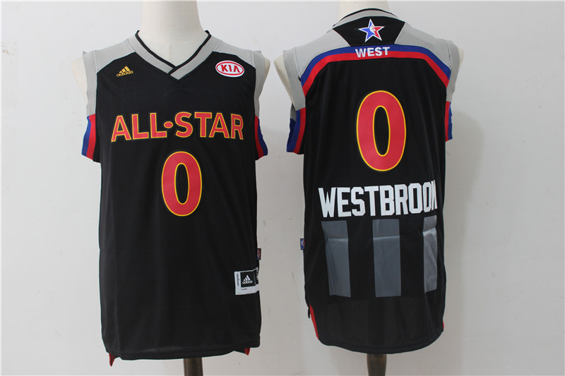 Thunder 0 Russell Westbrook Charcoal 2017 NBA All-Star Game Swingman Jersey