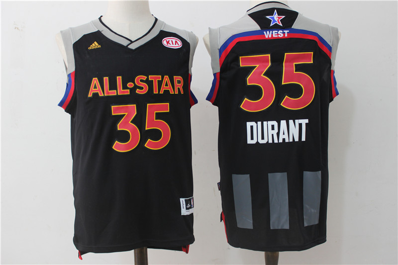 Warriors 35 Kevin Durant Charcoal 2017 NBA All-Star Game Swingman Jersey