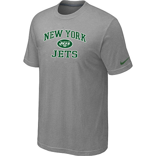 New York Jets Team Logo Gray Nike Men's Short Sleeve T-Shirt