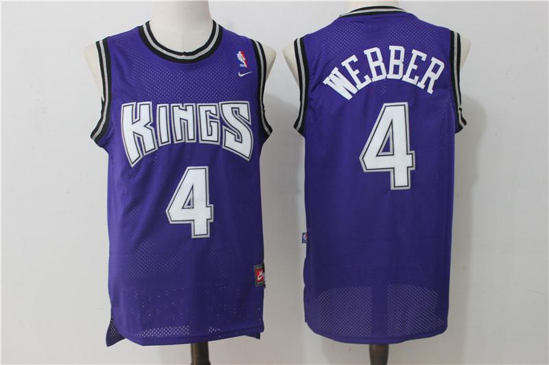 Kings 4 Chris Webber Purple Nike Jersey