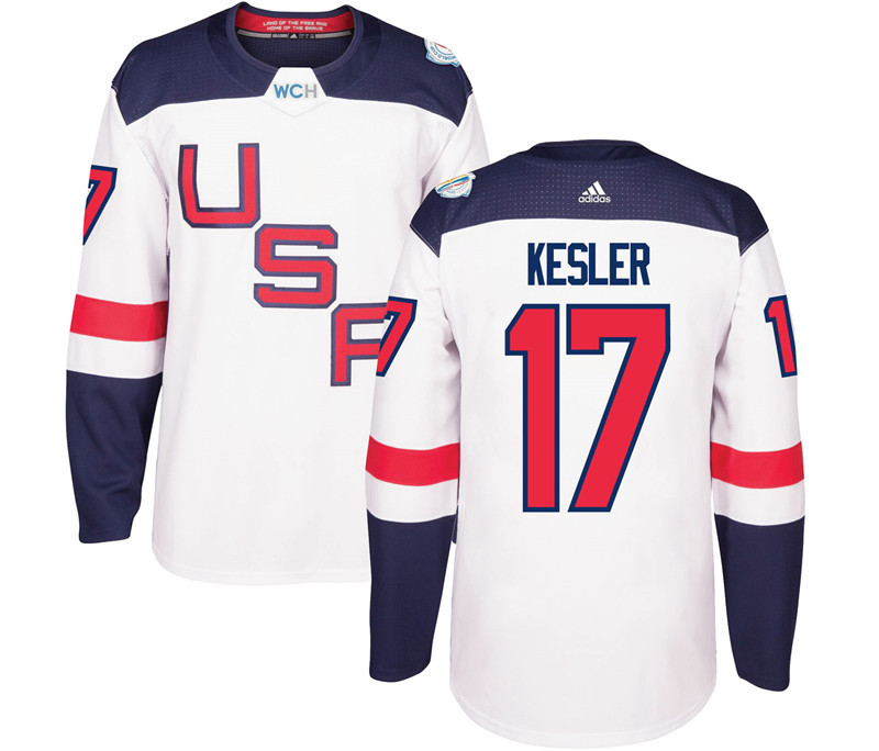 USA 17 Ryan Kesler White 2016 World Cup Of Hockey Premier Player Jersey