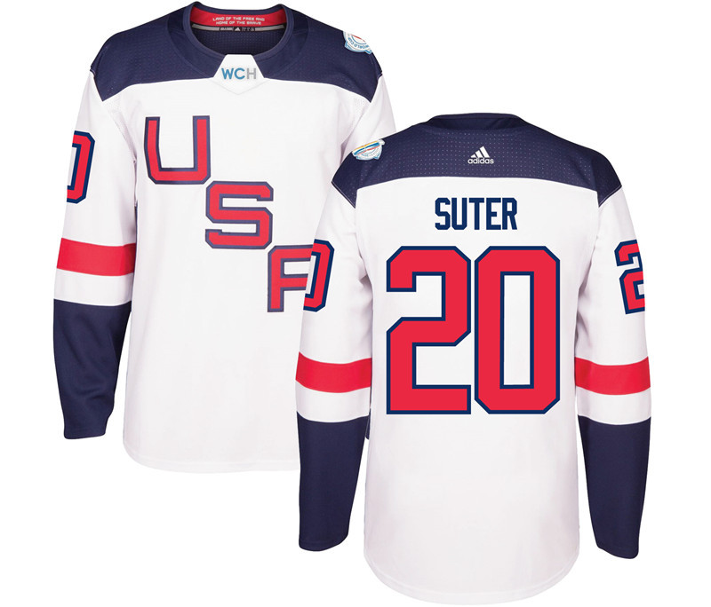 USA 20 Ryan Suter White 2016 World Cup Of Hockey Premier Player Jersey