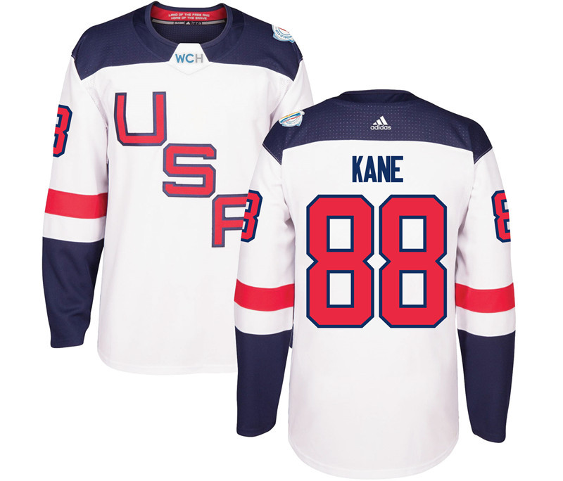 USA 88 Patrick Kane White 2016 World Cup Of Hockey Premier Player Jersey