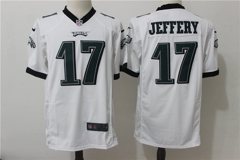 Nike Eagles 17 Alshon Jeffery White Game Jersey