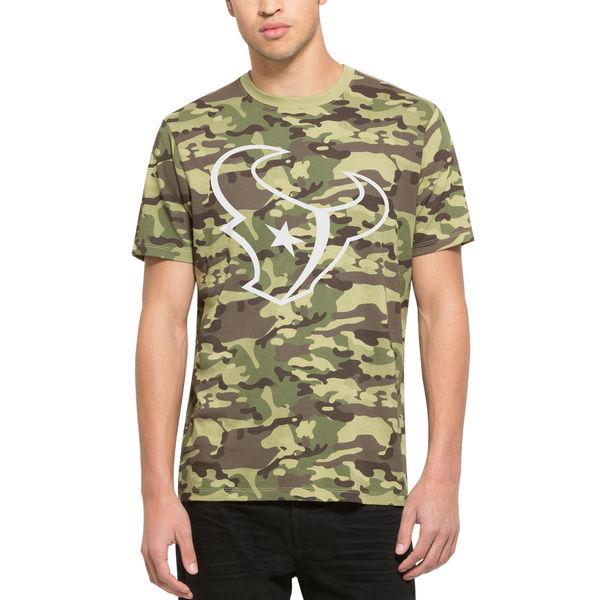 Houston Texans Fresh Team Logo Camo Men's Short Sleeve T-Shirt