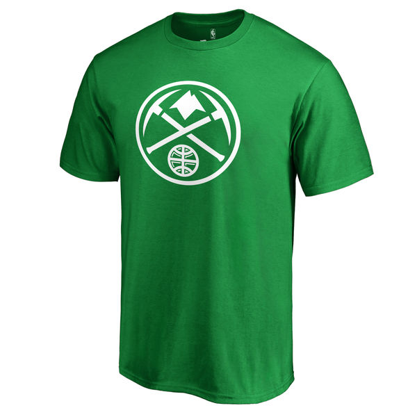 Denver Nuggets Branded Kelly Green St. Patrick's Day White Logo T-Shirt