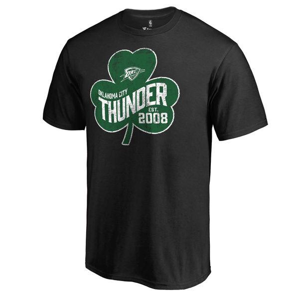 Oklahoma City Thunder Fanatics Branded Black Big & Tall St. Patrick's Day Paddy's Pride T-Shirt