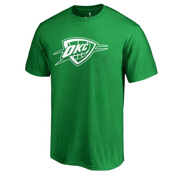 Oklahoma City Thunder Fanatics Branded Kelly Green St. Patrick's Day White Logo T-Shirt