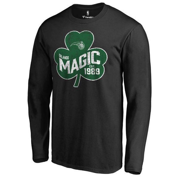 Orlando Magic Fanatics Branded Black Big & Tall St. Patrick's Day Paddy's Pride Long Sleeve T-Shirt