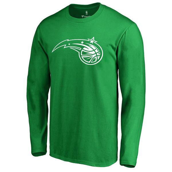 Orlando Magic Fanatics Branded Kelly Green St. Patrick's Day White Logo Long Sleeve T-Shirt
