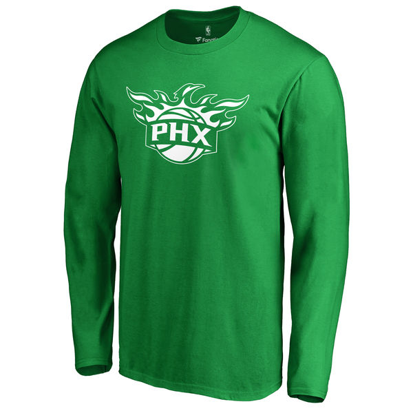 Phoenix Suns Fanatics Branded Kelly Green St. Patrick's Day White Logo Long Sleeve T-Shirt