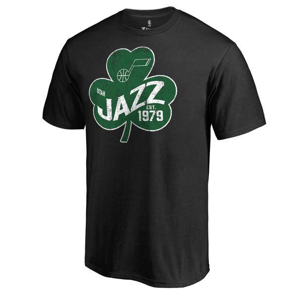 Utah Jazz Fanatics Branded Black Big & Tall St. Patrick's Day Paddy's Pride T-Shirt