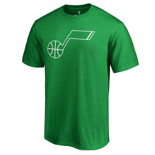 Utah Jazz Fanatics Branded Kelly Green St. Patrick's Day White Logo T-Shirt
