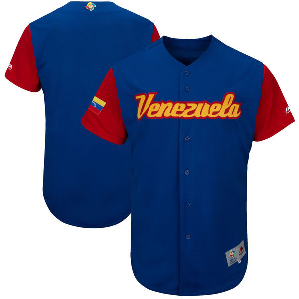 Men's Venezuela Baseball Majestic Royal 2017 World Baseball Classic Authentic Team Jersey