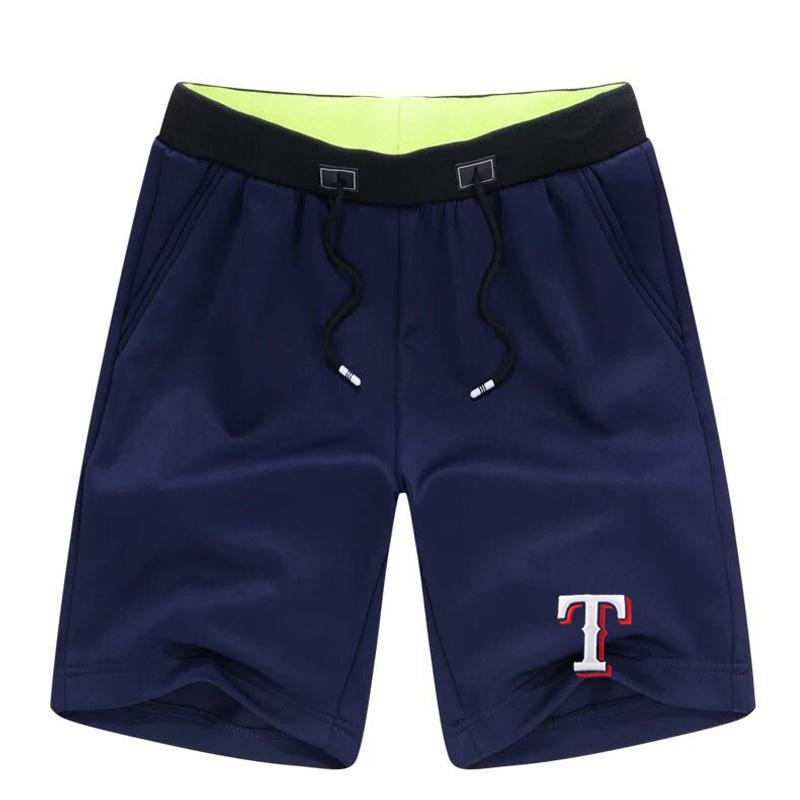 Men's Texas Rangers Team Logo Navy Baseball Shorts