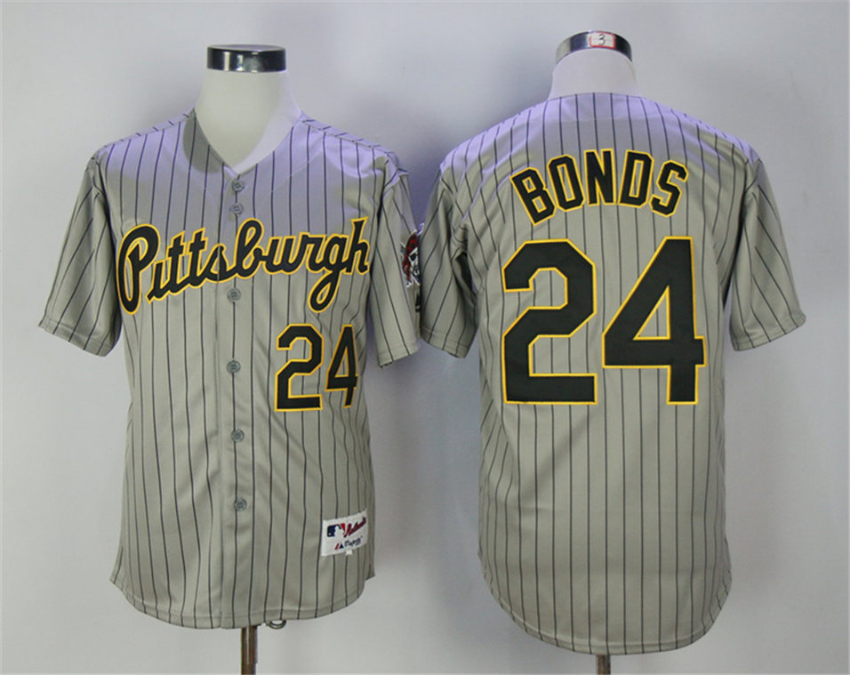 Pirates 24 Barry Bonds Gray 1997 Turn Back The Clock Throwback Jersey