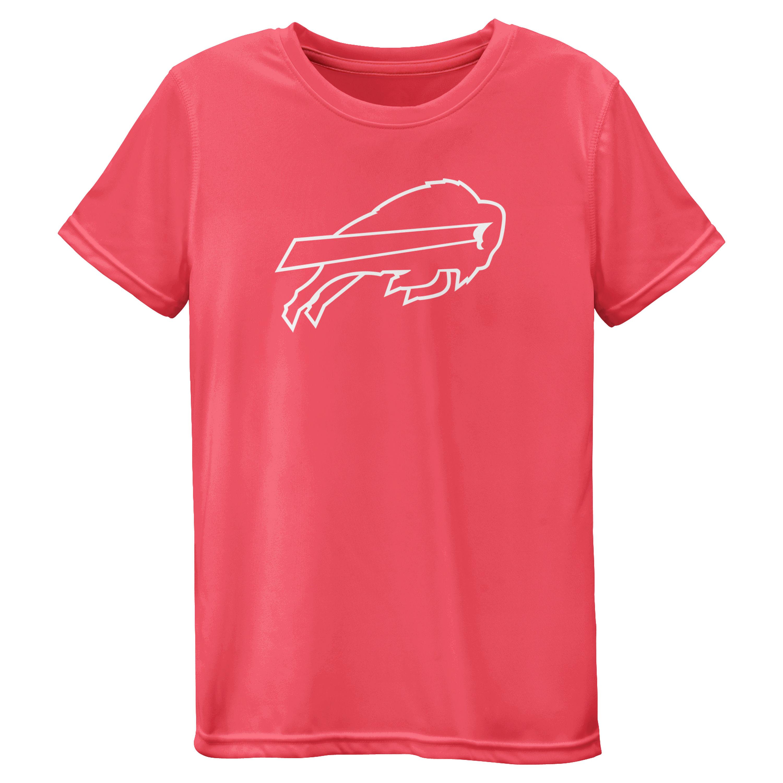 Buffalo Bills Girls Youth Pink Neon Logo T-Shirt