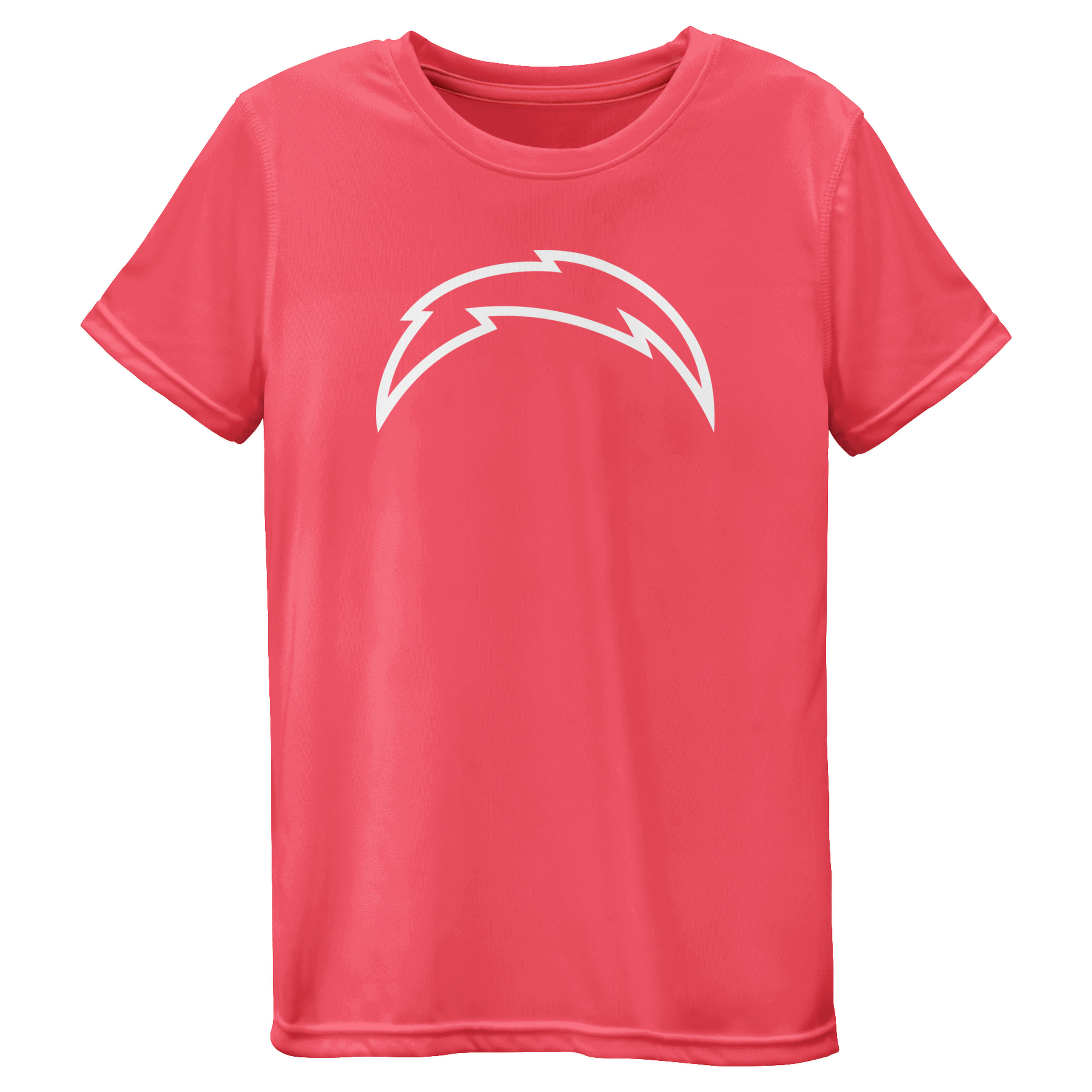 Los Angeles Chargers Girls Youth Pink Neon Logo T-Shirt