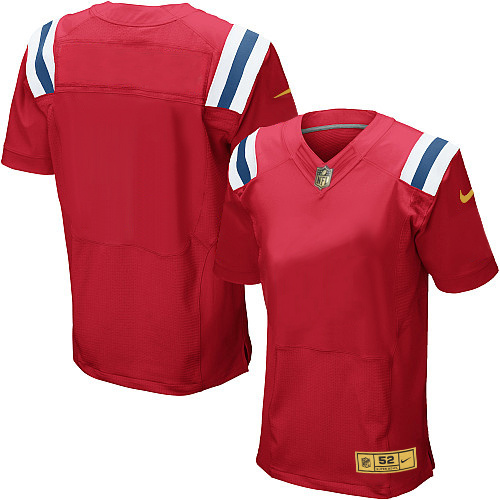 Nike Patriots Blank Red Gold Elite Jersey