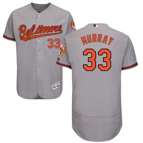 Orioles 33 Eddie Murray Gray Flexbase Jersey