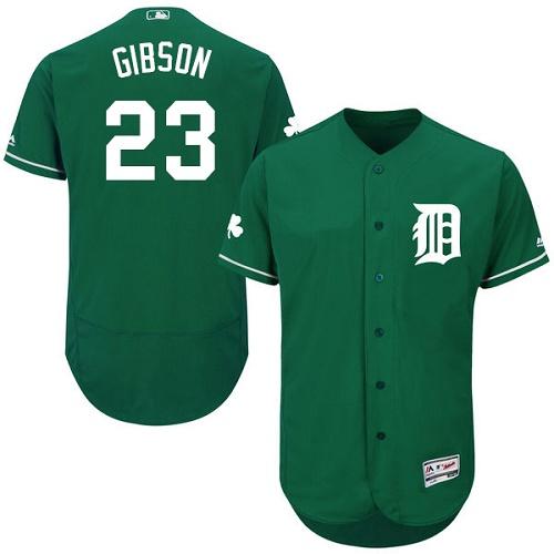 Tigers 23 Kirk Gibson Green Celtic Flexbase Jersey