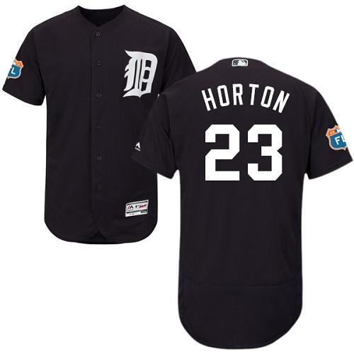 Tigers 23 Willie Horton Navy Flexbase Jersey