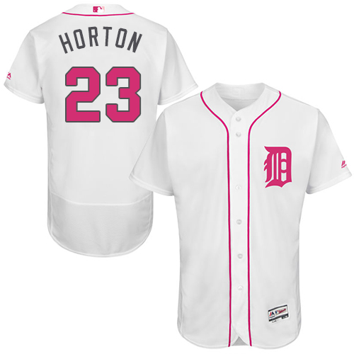 Tigers 23 Willie Horton White Mother's Day Flexbase Jersey