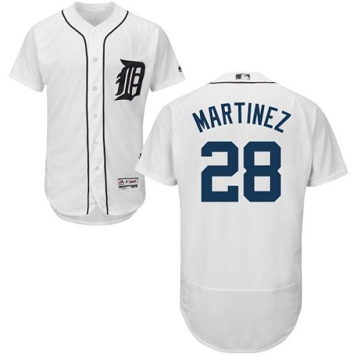 Tigers 28 J.D. Martinez White Flexbase Jersey