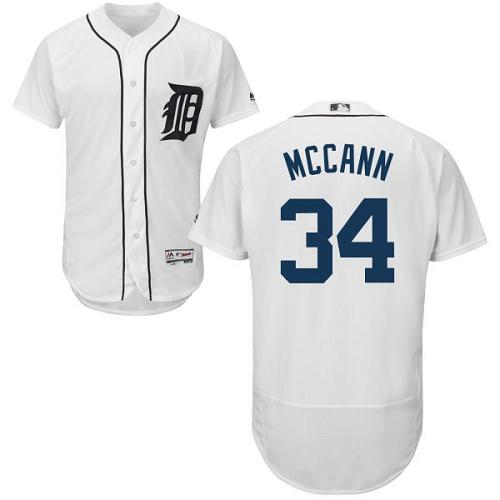 Tigers 34 James McCann White Flexbase Jersey